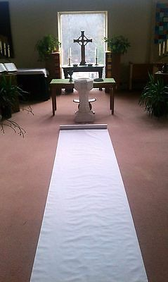 50ft White Fabric Wedding Aisle Runner