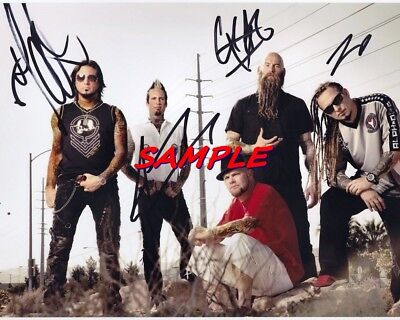 Five Finger Death Punch Autographed 8x10 Signed Photo Reprint