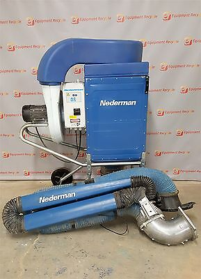 Nederman Dust Fume Extraction Filter Box System w/ Arm Welding Collector