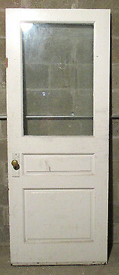 ~ GREAT ANTIQUE OAK DOOR WITH RAISED PANELS ~ 32 x 80.5~ ARCHITECTURAL SALVAGE ~
