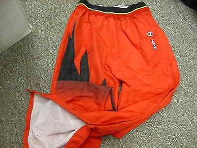 Official NBA Atlanta Hawks 1996-1997 Game Worn Champion Warm Up Pants Size: 36