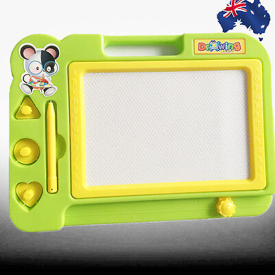 Green Magnetic Drawing Board Sketch Pad Doodle Writing Craft Art Kids GWRIT 0104