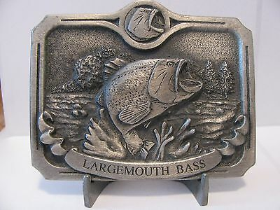 1992 Palisades Ent Largemouth Bass Fish Pewter Belt Buckle Limited Ed Savanna IL