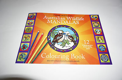Australian Wildlife Mandala Coloring book stained glass decal designs Animals