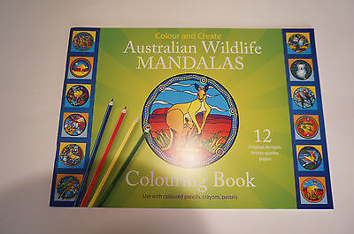 Australian Wildlife Mandala Coloring book stained glass decal designs Native