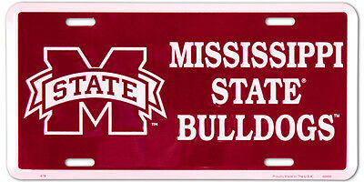 Mississippi State Bulldogs Car Truck Tag License Plate Mississippi State Sign