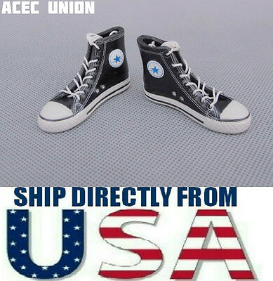 f3956dd78d54 1 6 Converse All Star Style Shoes Boots BLACK For 12