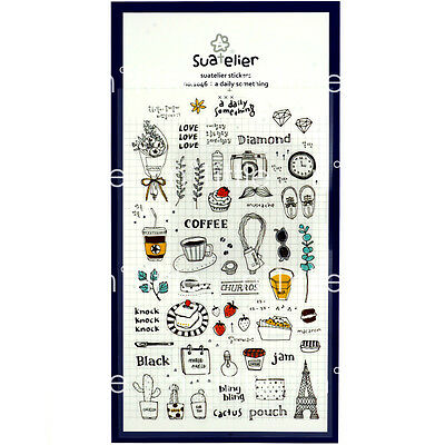 A Daily Something Style Transparent Diary Deco Stickers Labels Scrapbook Journal