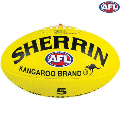 Sherrin Synthetic Supergrip AFL Football Yellow