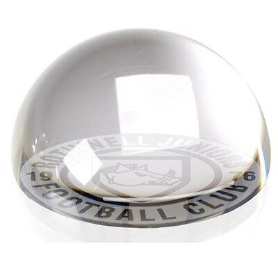 Personalised Engraved Dome Glass Paperweight