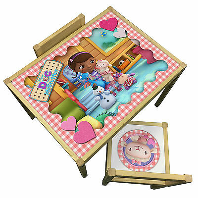 Childrens Doc McStuffins Table & Chairs Set - Bedroom Theme Furniture