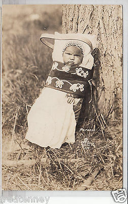RPPC - Indian Papoose in Cradleboard - Wisconsin Indian - 1927