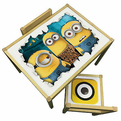 Minions 3D Table & Chairs Set -  Despicable Me Disney Theme Furniture