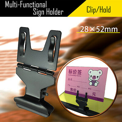 Multiple Function Store Price Label Sign Card Holder Clip Clamp Stainless Steel