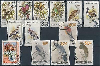 South-Africa-Bophuthatswana stamp Birds 13 stamps 1980 Used WS184108