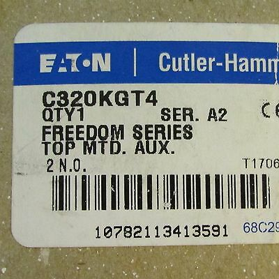 EATON CUTLER HAMMER C320KGT4 Freedom Series 2 N.O. Top Mount Auxiliary Contact