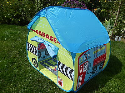 POP IT UP  Childs Play Tent. Pit Stop,Garage,Dolls House,Fire Station.