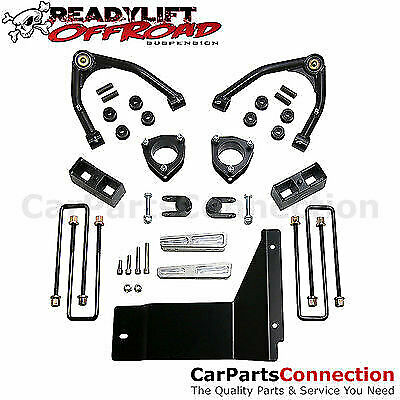 """ReadyLIFT 69-3485M SST Lift Kit GM Chevy 4"""" F 1.75"""" R Black With Moog Ball Joint"""