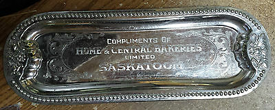 Home & Central Bakeries, Saskatoon - Engraved Tray, 1923-1929 (Sold to McGavins)