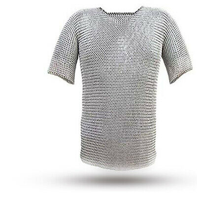 Butted Aluminium Chainmail Shirt Medieval Chainmail Haubergeon Armor Costume