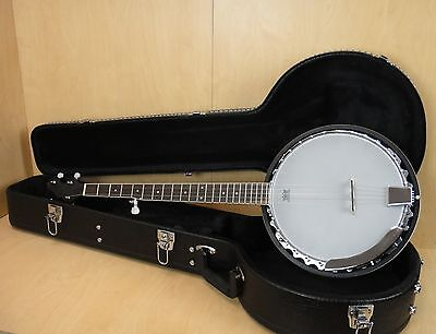 Caraya BJ-008 5-string Banjo, Aluminum Rim,Mahogany Resonator+Lockable Hard Case
