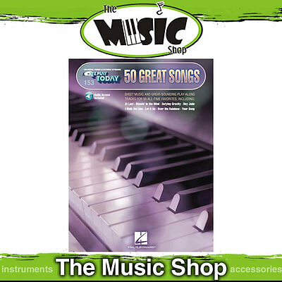 New EZ Play #153 50 Great Songs Piano Music Book - Easy Play Today