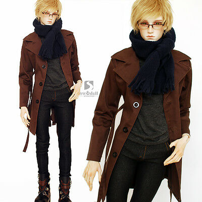 NEW Customized Custo Pefect Coat+Jeans+Vest+ Scarf Coll SuitFor 1/3 BJD Clothes