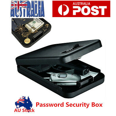 Portable Personal Security Small Safe Box Password Cash Jewelry Safe Case Office