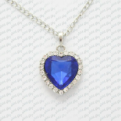 collana titanic cuore dell'oceano heart of ocean Rose cosplay halskette necklace