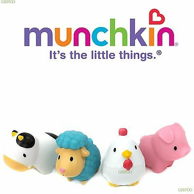 Munchkin Baby Squirtin Barnyard Friends Toy, with Cow, Pig, Sheep and Chicken