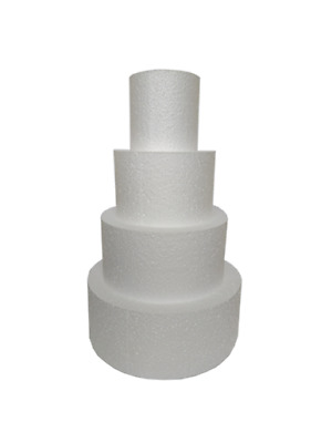 "Cake Dummy STACKS Round SETS of FOUR - 3"" to 14"" - 3"" or 4"" Depth Sugarcraft"