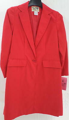 Reed Hill Child's Saddleseat Day Coat Red Poly/Cotton size 8 - USA