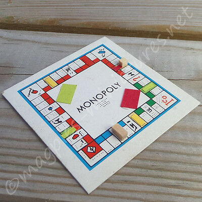dolls house 12th scale Monopoly board game