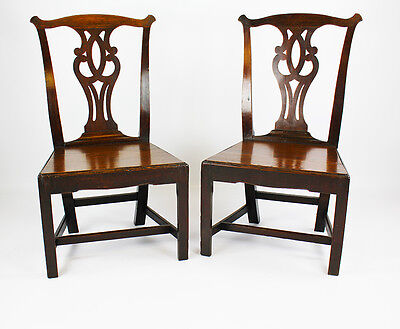 Set of 2  Chippendale Mahogany Dining Chairs circa 1820