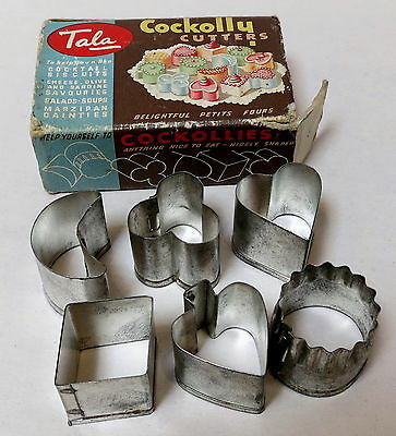 VINTAGE TALA COCKOLLY PETITS FOURS CUTTERS IN BOX c.1950s