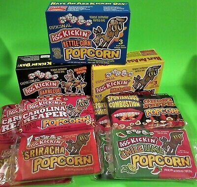 15 Bags Ass Kickin' Microwave Popcorn - 6 Great Flavors! Was $29.25, Try Today!