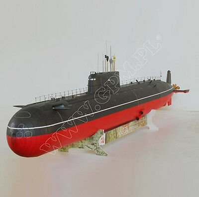 Soviet Union K-278 Nuclear-powered submarine Type 685 Paper model kit