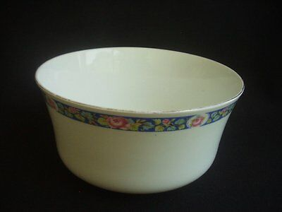 "5.5"" Diameter Vintage Bowl / Sugar Bowl -White With Floral Decoration To Rim"