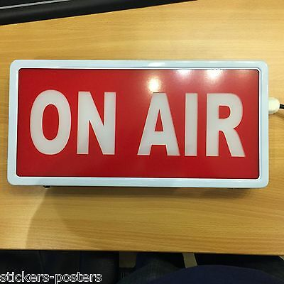 ON AIR LIGHT BOX  RED & WHITE LIGHT UP Metal Sign professional Studio