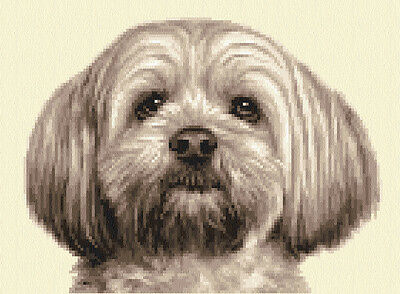 LHASA APSO dog, puppy ~ Complete counted cross stitch kit
