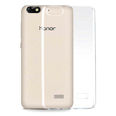 2x Ultra Thin Glossy Clear Gel Skin Case Back Cover For Huawei Honor 4C