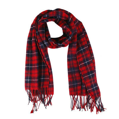 Fashion Women Winter Warm Tartan Check Shawl Scarf Wrap Stole Pashmina Plaid