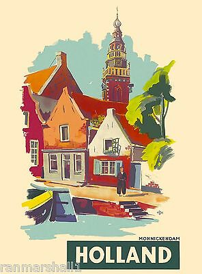 Amsterdam Dutch  Holland Netherlands Europe Travel Art Poster Advertisement 7