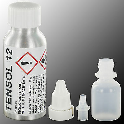 TENSOL 12 Acrylic Adhesive, 50ml Bottle / Perspex Bonding Glue Cement