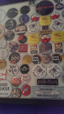 Pink Floyd  1967 To 1984  Button Collection In Box Ready For Display Fantastic