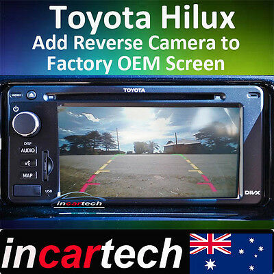 Toyota Hilux Hiace add Reverse Camera Integration OEM Factory Navigation Screen