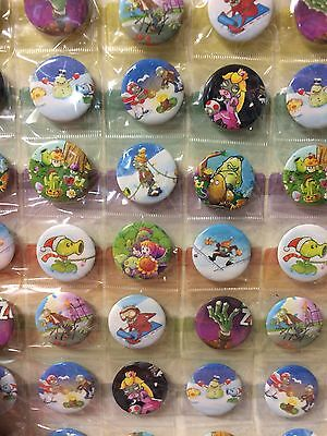 6pcs GaMe 30mm Plastic Badge Brooch Pin Birthday Party Lolly Bag Gift