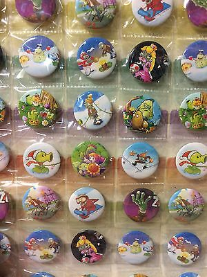 6pcs Plant Game 30mm Plastic Badge Brooch Pin Birthday Party Lolly Bag Gift