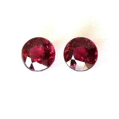1mm to 8mm Calibrated Natural Rhodolite Garnet Round Cut Top Quality Gemstone