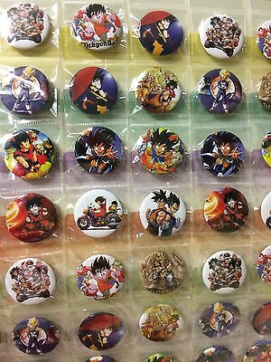 6pcs Dragon Ball 30mm Plastic Badge Brooch Pin Birthday Party Lolly Bag Gift